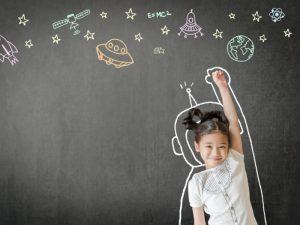 kid imagining space
