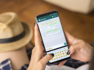 WhatsApp chat window open on a mobile phone