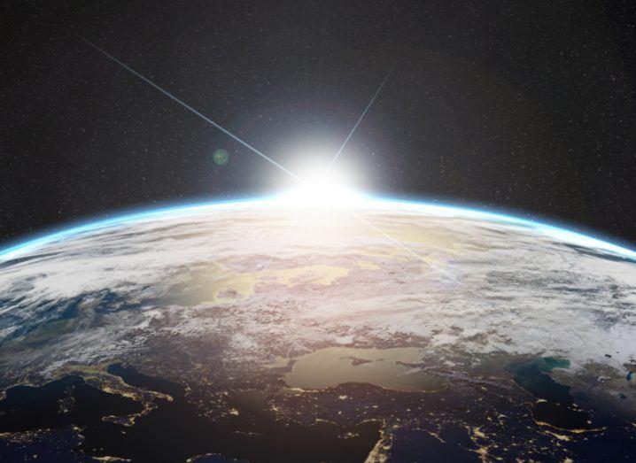 NASA image of sunrise over Earth