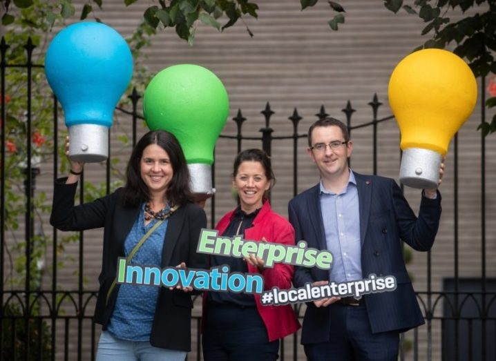From left: Dr Silvia Guglielmini, European projects officer, Institute of Technology, Carlow; Gabrielle Carroll, European projects officer at Carlow County Council Local Enterprise Office and Michael Begley, business advisor, Local Enterprise Office, Tipperary.
