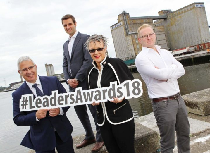 John Drury, Eoghan O'Mahony,Peter Coppinger, Caroline O'Driscoll and Peter Coppinger posing.
