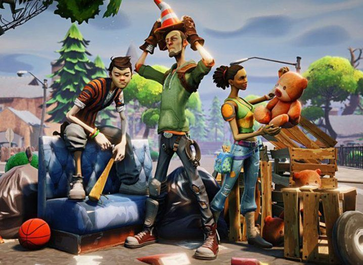 Two male and one female characters from popular video game Fortnite.