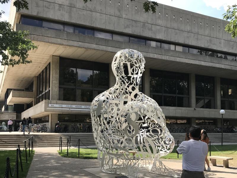 MIT sculpture in Cambridge, Massachusetts.