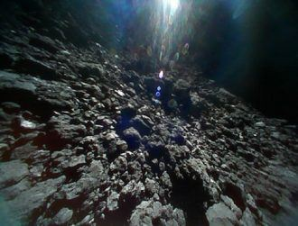 Japanese release amazing movie shot from the surface of asteroid Ryugu