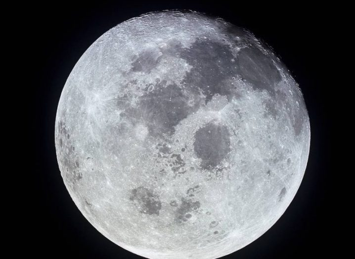 Photo of the moon taken from space.