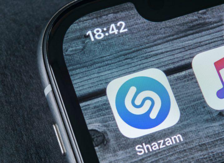 Shazam app on an iPhone alongside the Apple Music app.