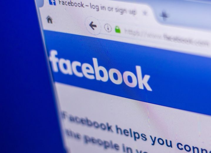 Facebook page open on an internet browser, with the logo visible.