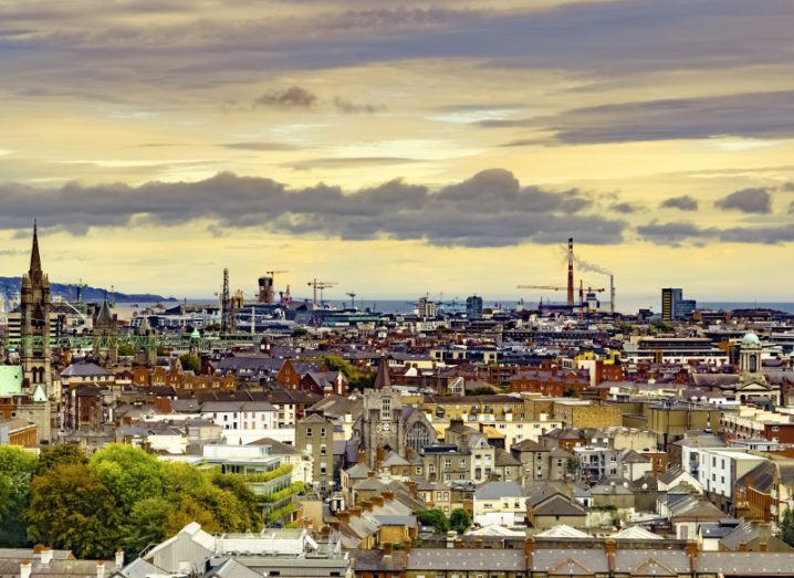 A view of Dublin from the Guinness storehouse.