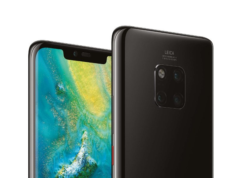 Hero shot of two new Huawei smartphones.