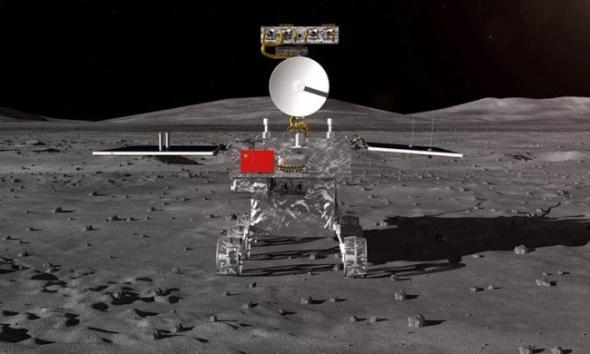 Illustration of what Chang'e 4 will look like on the moon.