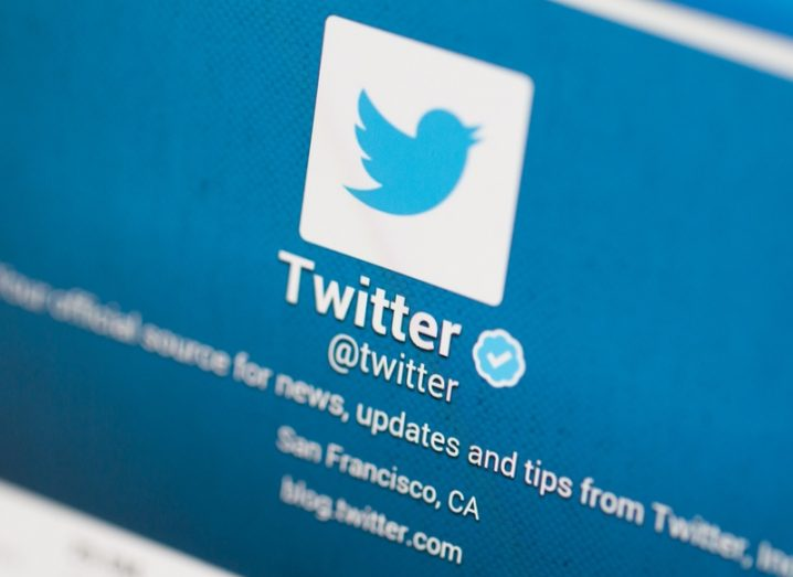 The official Twitter account for Twitter on desktop, featuring the blue bird logo.