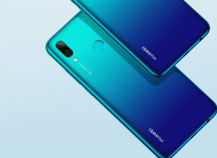 Close-up of a new Huawei P Smart 2019 device.