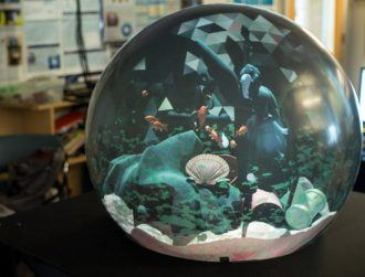 Could this large 'crystal ball' display be the future of collaborative VR?