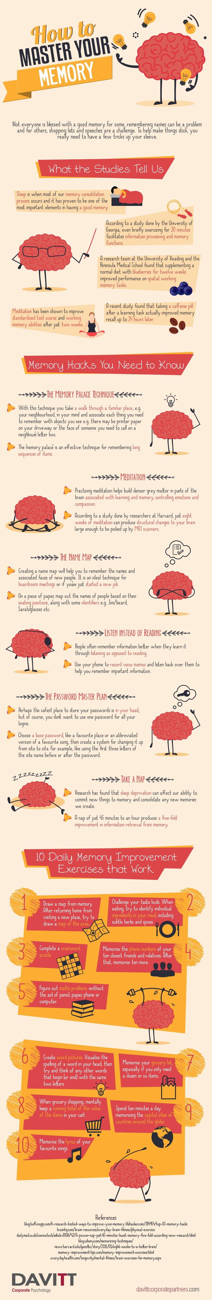 improve memory infographic