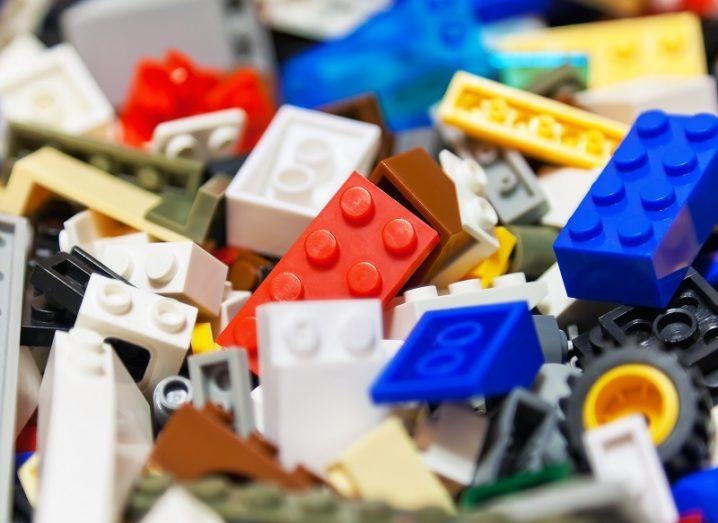A pile of different coloured Lego bricks.