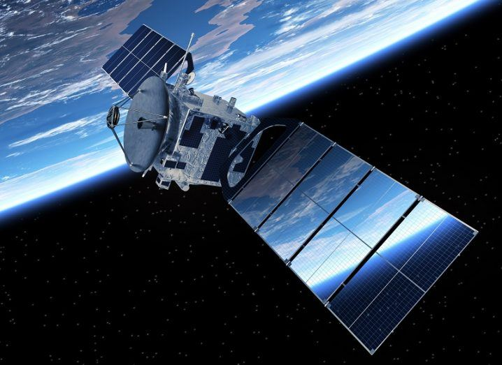 Communications satellite in Earth's orbit.