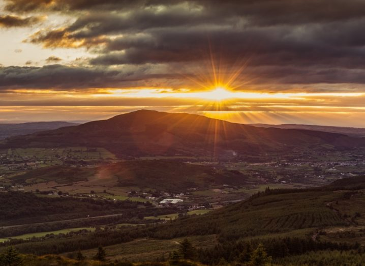 Picturesque sunset in Cooley Mountains, Co Louth. Ireland.