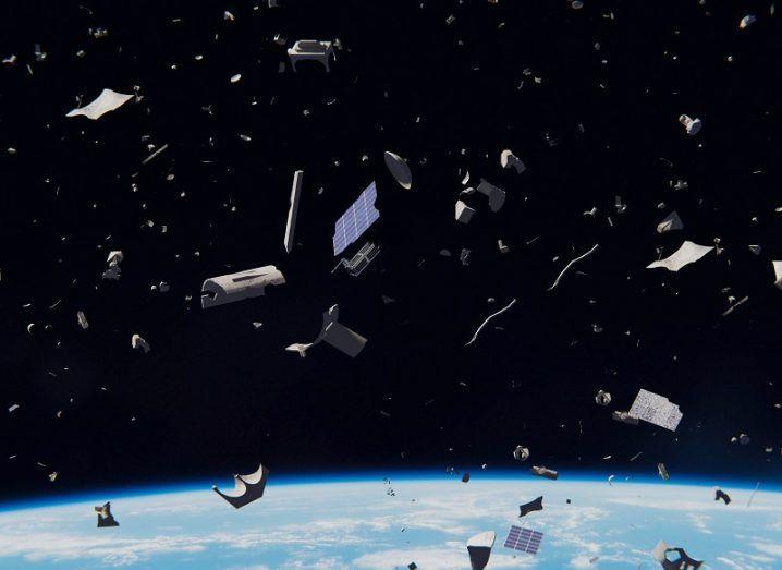 A large quantity of metallic space debris in Earth's orbit.