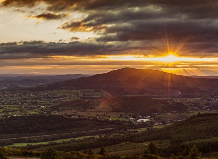 Sunset in Cooley Mountains, Co Louth, Ireland.