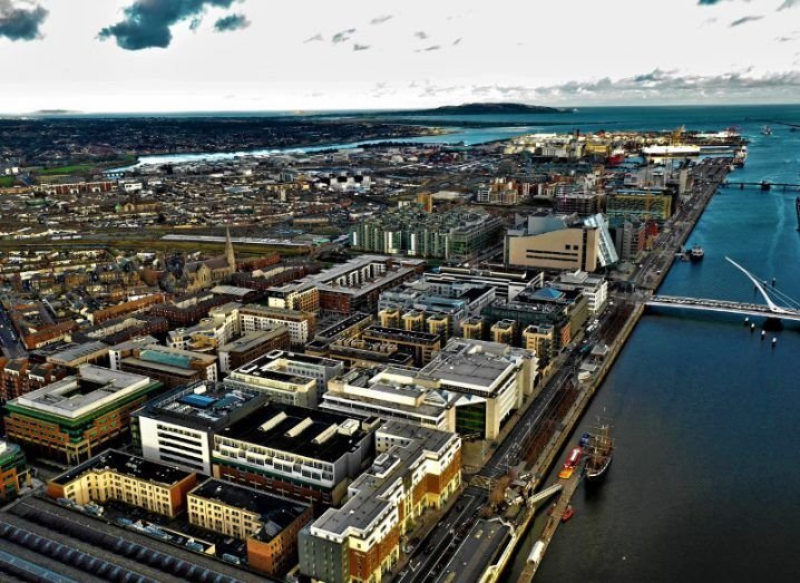 Panorama of Dublin's IFSC district.