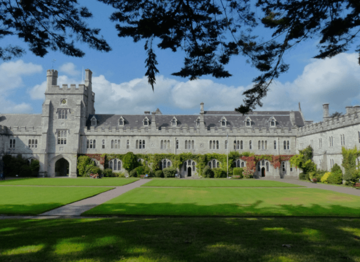 The grounds of University College Cork on a sunny day.