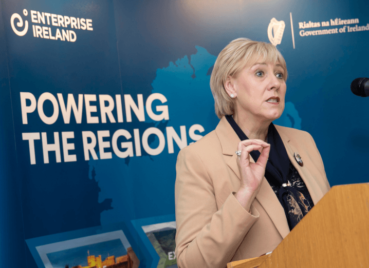 Heather Humphreys TD at the launch of the Regional Technology Clustering Fund.