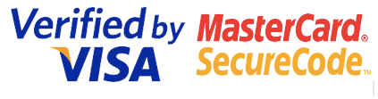 Logos for Verified by Visa and Mastercard SecuredCode