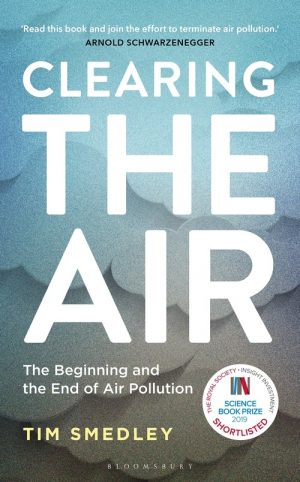 Book cover of Clearing the Air with an illustration of clouds growing darker and murkier.