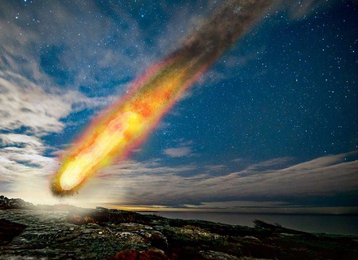 Illustration of the Siljan meteorite impact.