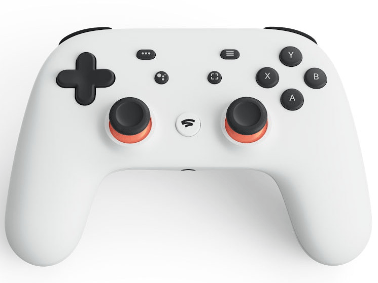 A white console controller with the traditional configuration of buttons. On the left side, there are black buttons for direction and on the right side there are 'X, Y, A and B' buttons. There are two analogues in the centre of the controller and a number of buttons that have yet to have a use identified for them yet.