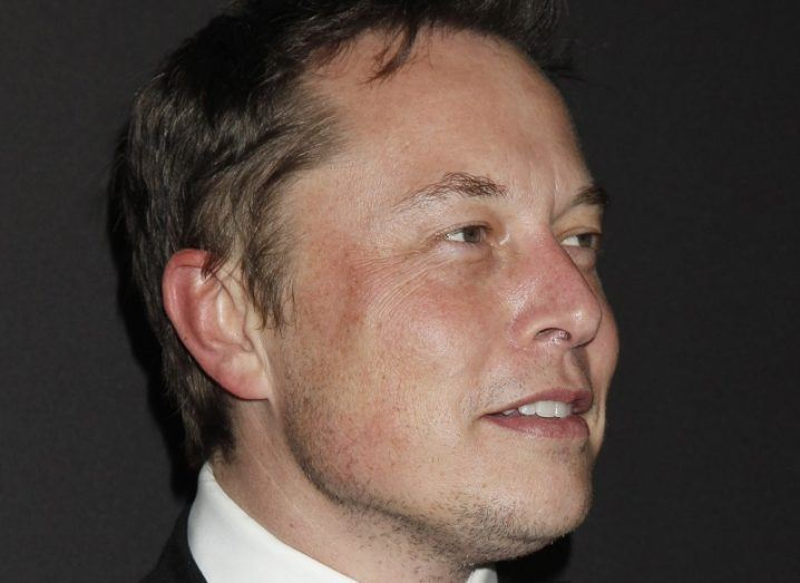 Close-up headshot of Elon Musk.