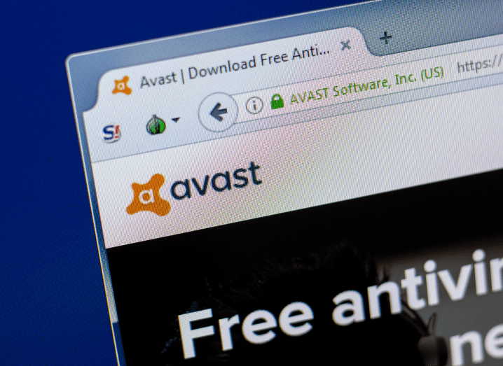 The homescreen of the Avast website, offering users free antivirus software.
