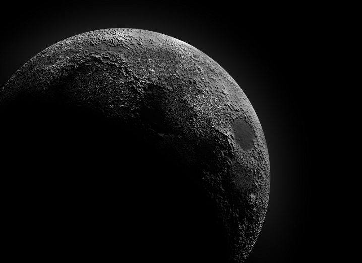 A large shadow crossing the moon.