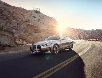 BMW unveils futuristic i4 concept EV with a massive front grille