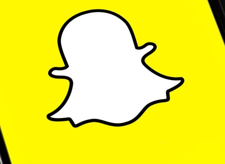 The Snap logo against a yellow background.