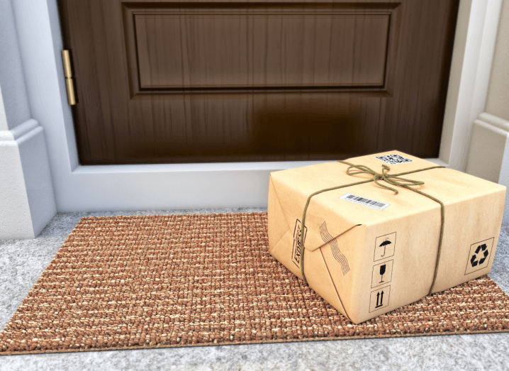 A package on the doorstep of a home.