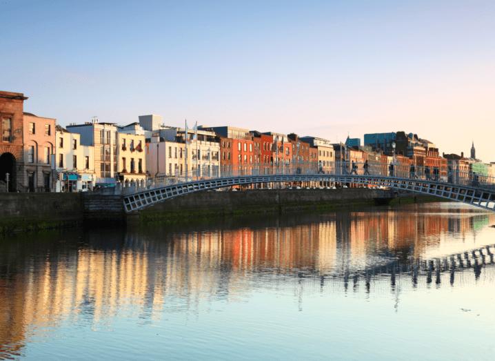 A bridge over the river Liffey in Dublin.