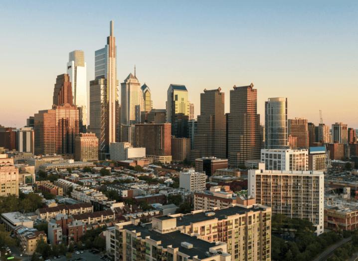 The skyline of Philadelphia.