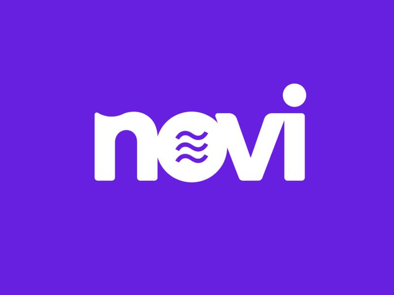 The Novi logo on a purple background.