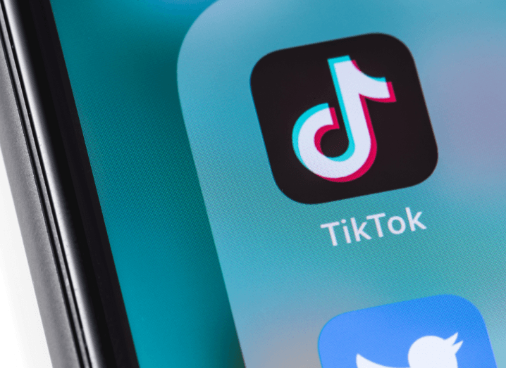 The TikTok app displayed on a smartphone screen.