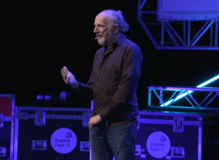 Jim FitzPatrick on stage at Inspirefest 2019.