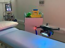 Drone that disinfects hospital rooms using UV light revealed by Irish team