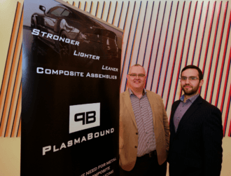 UCD spin-out PlasmaBound raises €1.1m for novel surface treatment