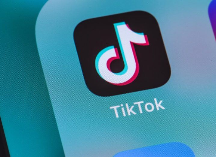 Smartphone displaying the TikTok app.