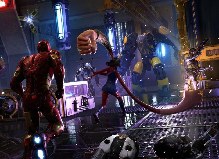 Screenshot from the Marvel Avengers game.