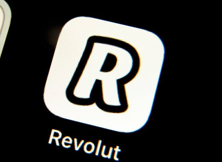 The Revolut app logo against a black screen.