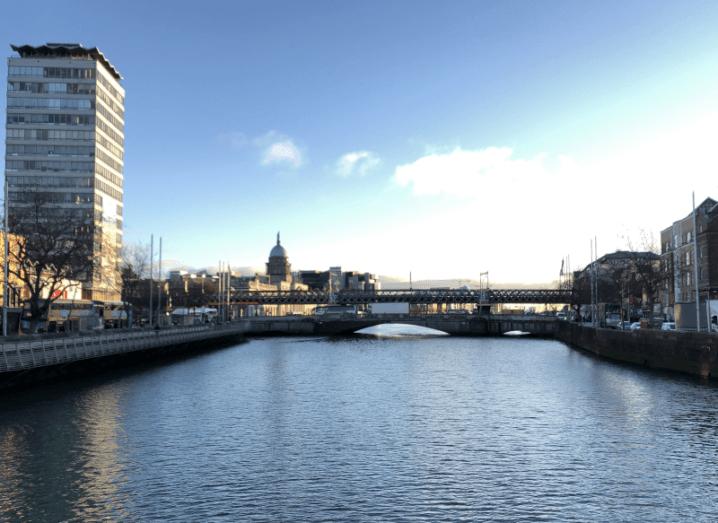 The river Liffey in Dublin city centre.