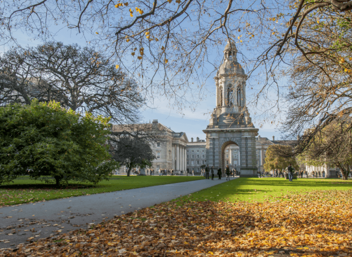 Buildings on the campus of Trinity College Dublin.