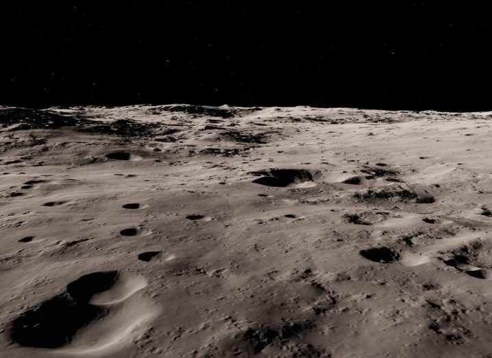 3D render of the surface of the moon.