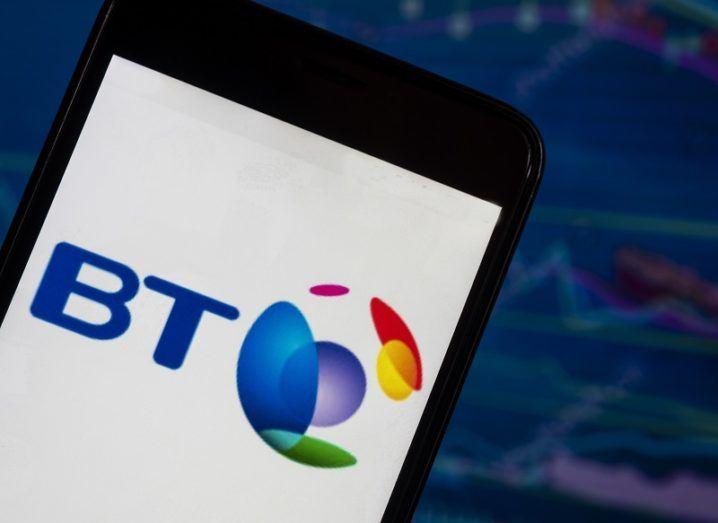The BT logo on a phone.